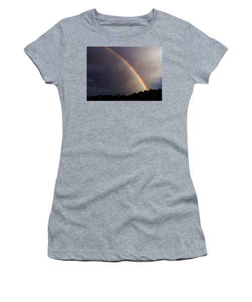 Women's T-Shirt (Junior Cut) featuring the photograph Over The Rainbow by Joseph Frank Baraba
