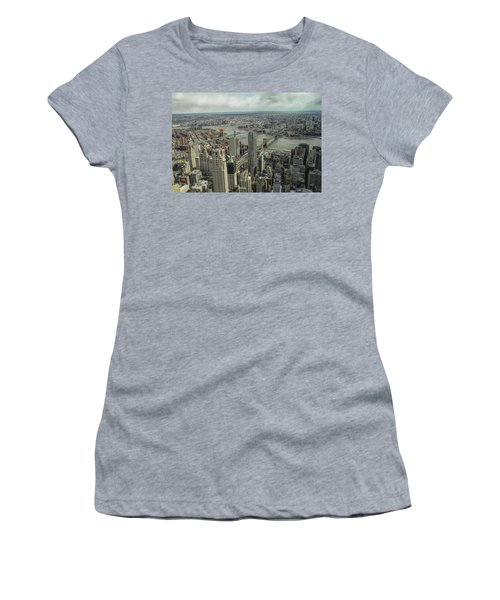 Overlooking Manhattan's East River  Women's T-Shirt (Athletic Fit)