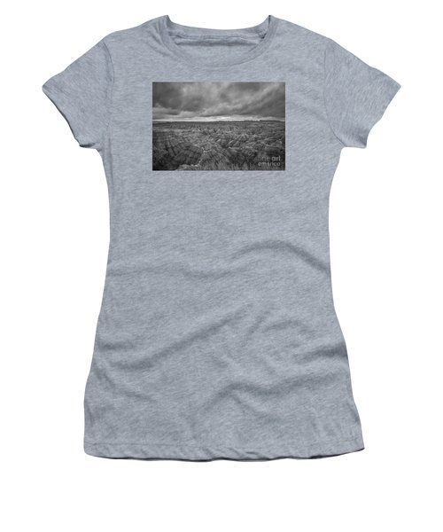 Overlooking The Badlands Bw Women's T-Shirt