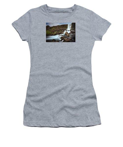 Oxararfoss Women's T-Shirt (Junior Cut) by Brad Grove