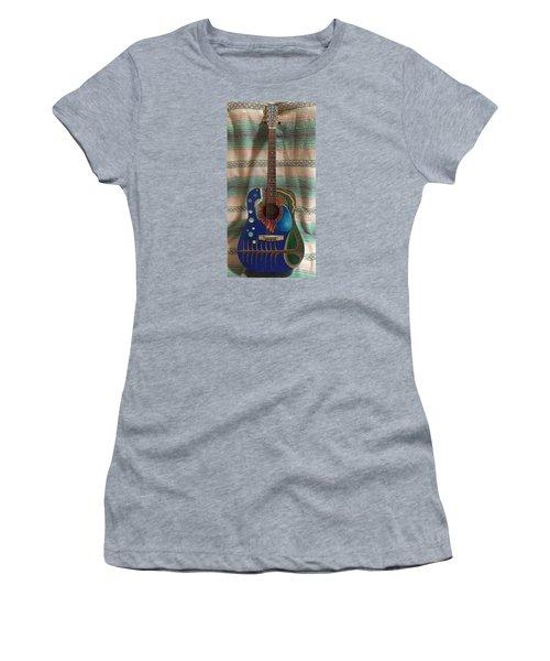 Painted Guitar Women's T-Shirt (Junior Cut) by Steve  Hester