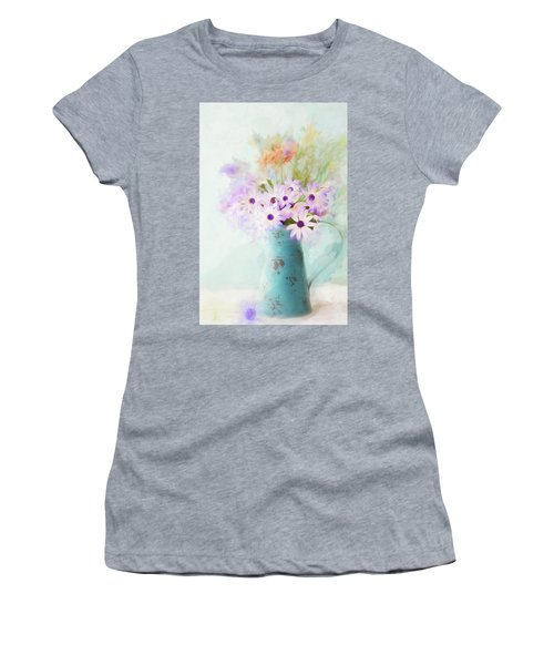 Painterly Spring Daisy Bouquet Women's T-Shirt (Athletic Fit)