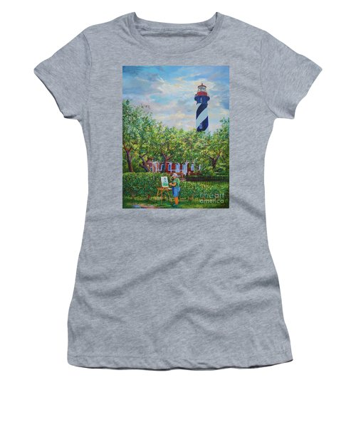 Painting The Light Women's T-Shirt (Athletic Fit)