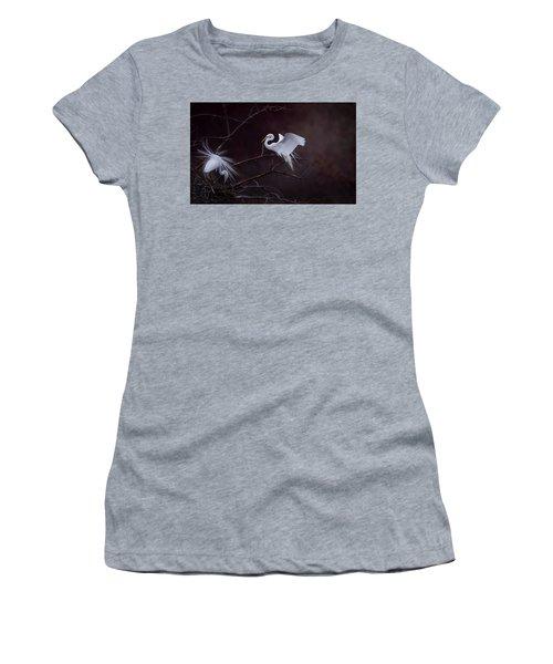 Pair Of Egrets Women's T-Shirt (Junior Cut) by Kelly Marquardt