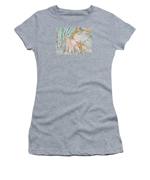 Palm Flowers Women's T-Shirt (Athletic Fit)