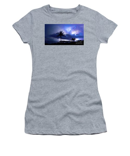 Palm Tree Nights Women's T-Shirt (Athletic Fit)