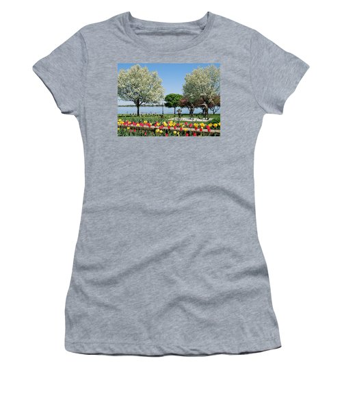 Palmer Park In Spring Women's T-Shirt (Athletic Fit)