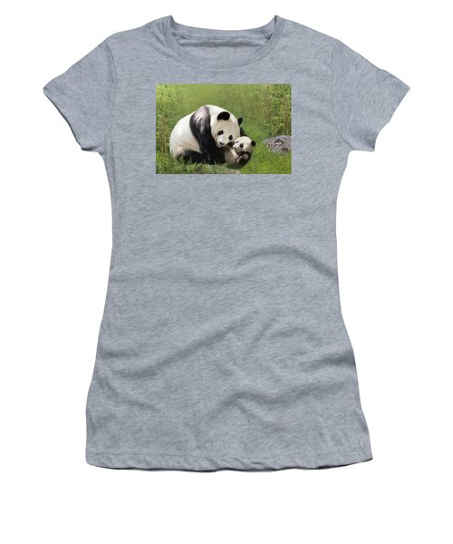 Panda Bears Women's T-Shirt (Athletic Fit)