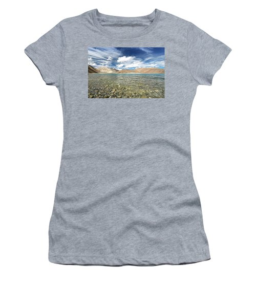 Women's T-Shirt (Athletic Fit) featuring the photograph Pangong Lake  by Yew Kwang