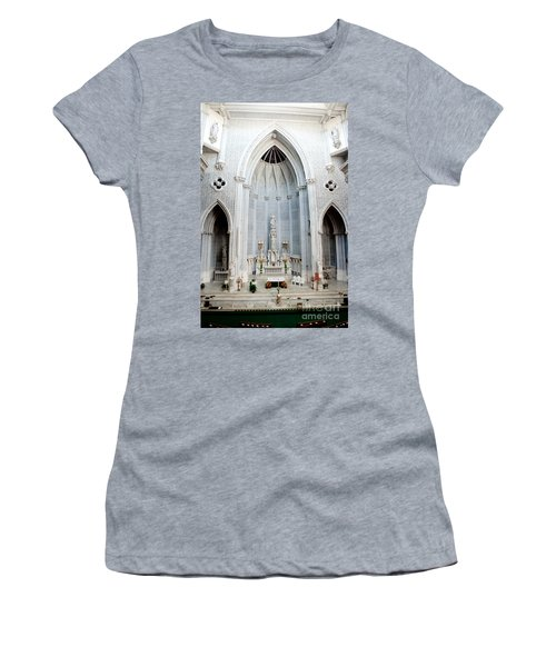Panorama Of The Main Altar Of St. John The Evangalist Roman Catholic Church Schenectady Women's T-Shirt