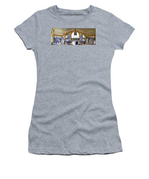 Panorama Of The Sao Bento Train Station In Oporto Portugal Women's T-Shirt