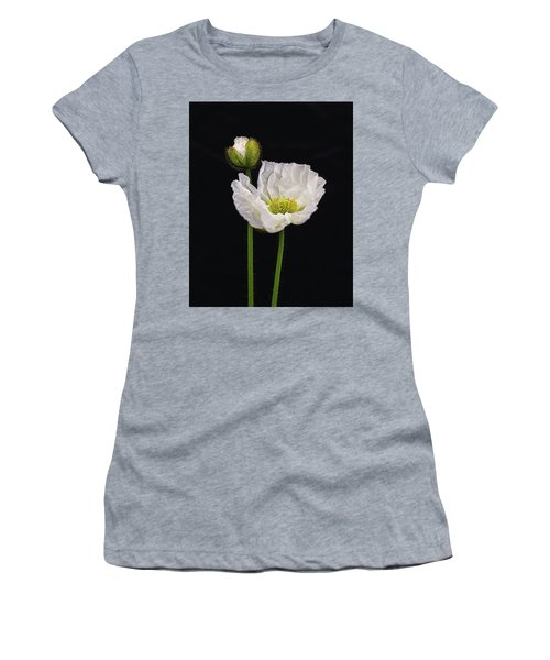 Paper White Poppy Women's T-Shirt (Athletic Fit)