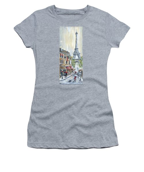 Poodle In Paris Women's T-Shirt