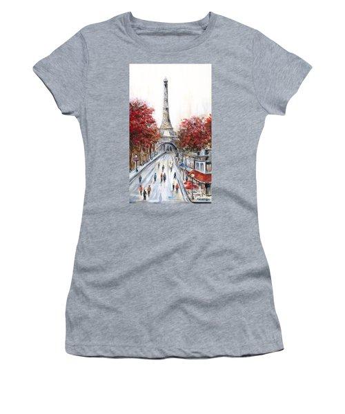 Paris In The Fall Women's T-Shirt