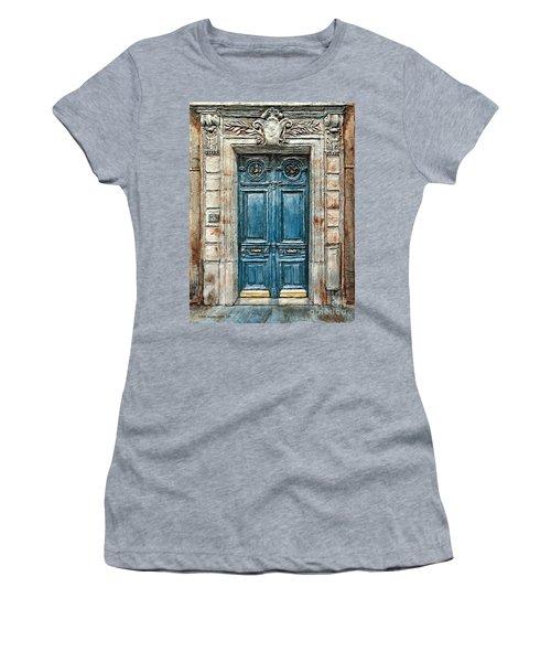 Parisian Door No. 3 Women's T-Shirt (Junior Cut) by Joey Agbayani