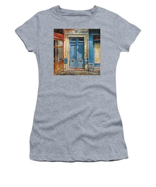 Women's T-Shirt (Junior Cut) featuring the painting Parisian Door No.36 by Joey Agbayani