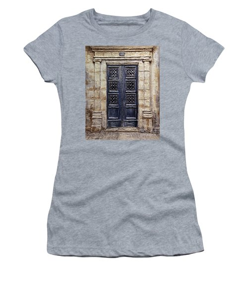 Women's T-Shirt (Junior Cut) featuring the painting Parisian Door No.40 by Joey Agbayani
