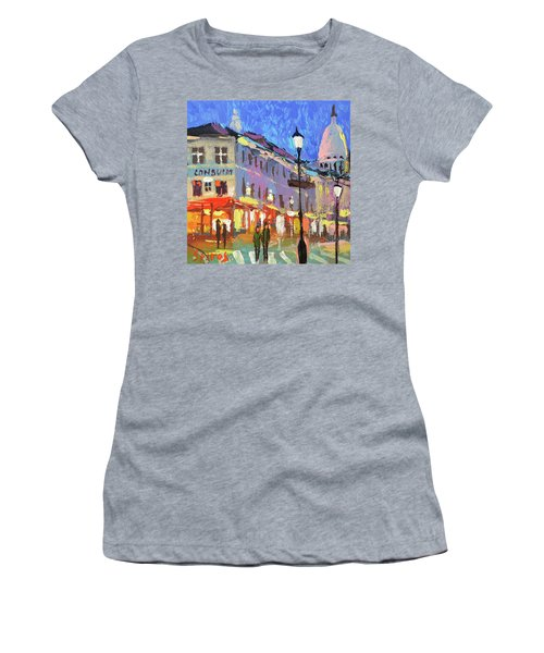 Parisian Street Women's T-Shirt (Athletic Fit)