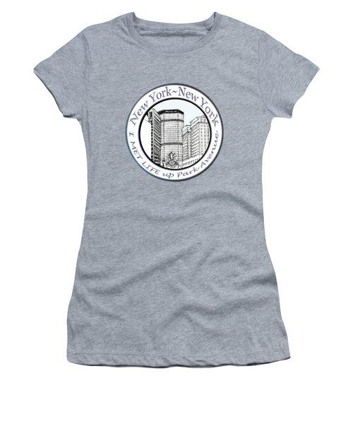 I Met Life Up Park Avenue Nyc Women's T-Shirt (Junior Cut) by James Lewis Hamilton