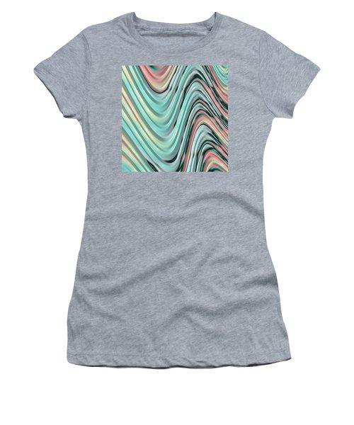 Women's T-Shirt (Junior Cut) featuring the digital art Pastel Zigzag by Bonnie Bruno