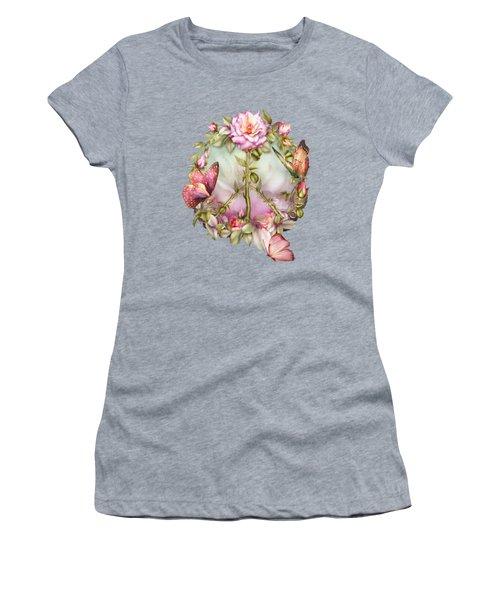 Peace Rose Women's T-Shirt (Athletic Fit)