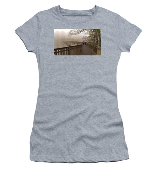 Pedestrian Bridge Early Morning Women's T-Shirt (Athletic Fit)