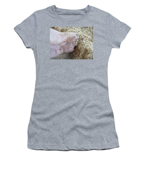 Women's T-Shirt (Athletic Fit) featuring the photograph Pedicure Needed Now by Marie Neder
