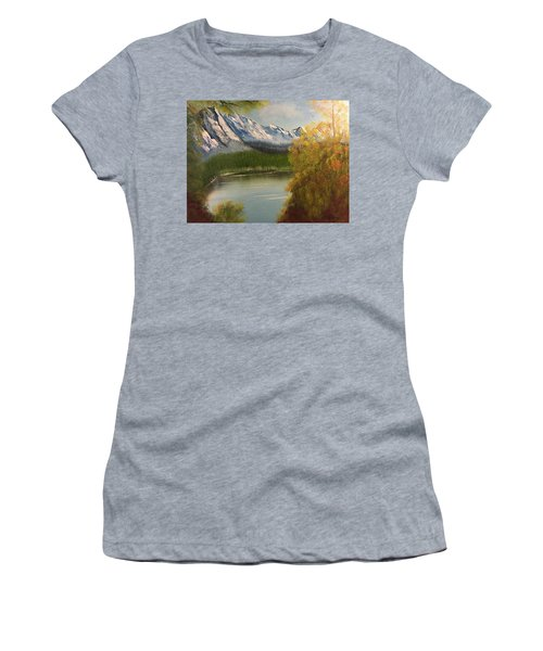 Peek-a-boo Mountain Women's T-Shirt (Junior Cut)