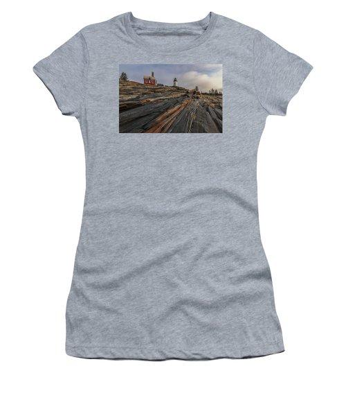 Pemaquid Point Cliffs Women's T-Shirt