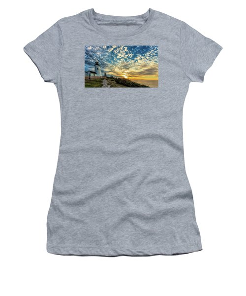Pemaquid Point Lighthouse At Daybreak Women's T-Shirt (Athletic Fit)