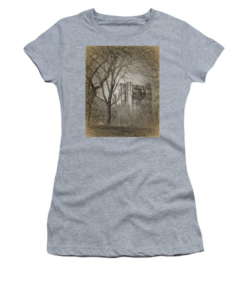 Pencil Sketch Of Beacon Hill Women's T-Shirt (Athletic Fit)