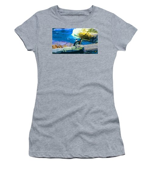 Penguins At The Zoo Women's T-Shirt (Athletic Fit)