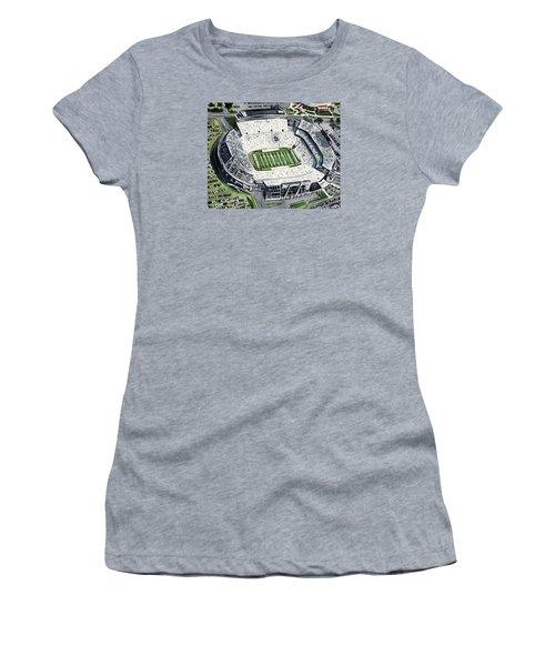 Penn State Beaver Stadium Whiteout Game University Psu Nittany Lions Joe Paterno Women's T-Shirt (Athletic Fit)