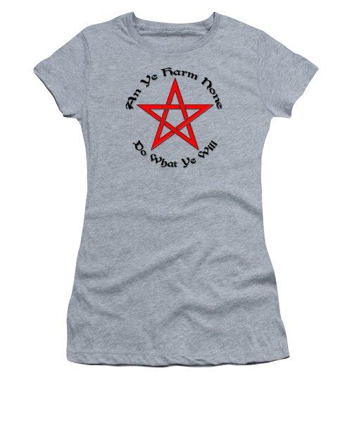 Pentagram Women's T-Shirt (Junior Cut) by Bob Slitzan