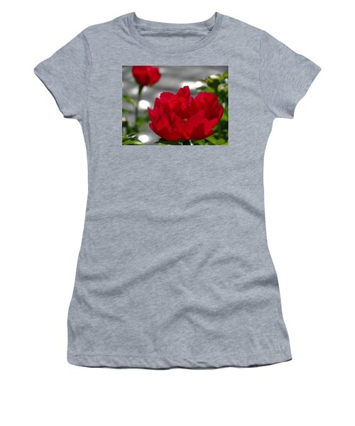 Peony In Red Women's T-Shirt (Athletic Fit)