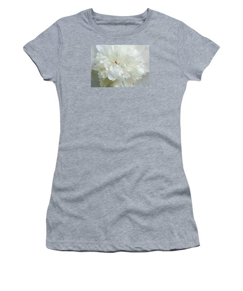 Peony In White Women's T-Shirt