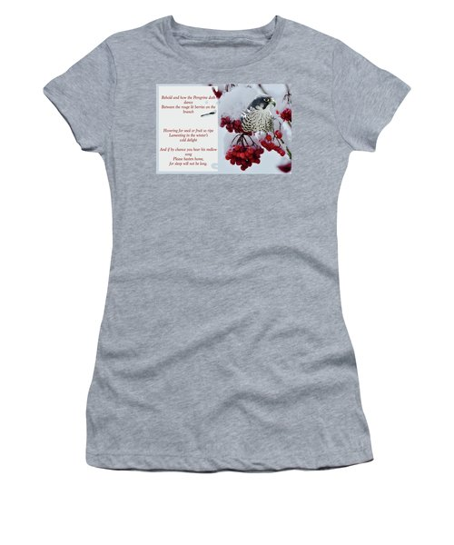 Peregrine Song Women's T-Shirt (Athletic Fit)