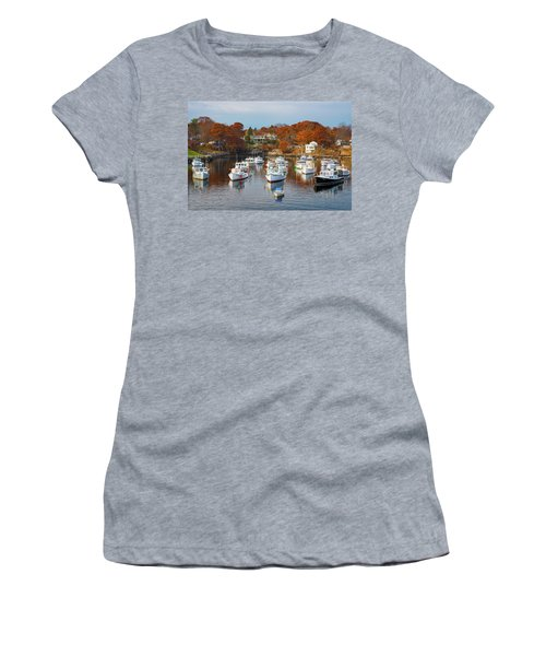 Women's T-Shirt (Athletic Fit) featuring the photograph Perkins Cove by Darren White