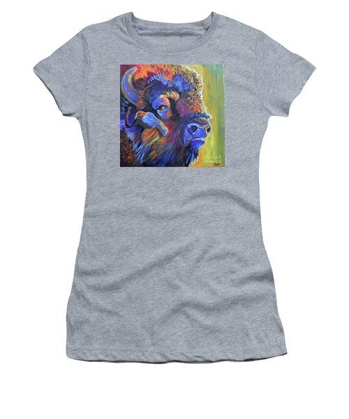 Pesky Cowbird Women's T-Shirt (Junior Cut) by Jenn Cunningham