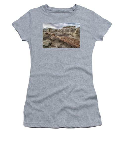 Women's T-Shirt (Junior Cut) featuring the photograph Petrified Remains by Alan Toepfer