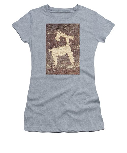 Petroglyph - Fremont Indian Women's T-Shirt (Junior Cut) by Breck Bartholomew