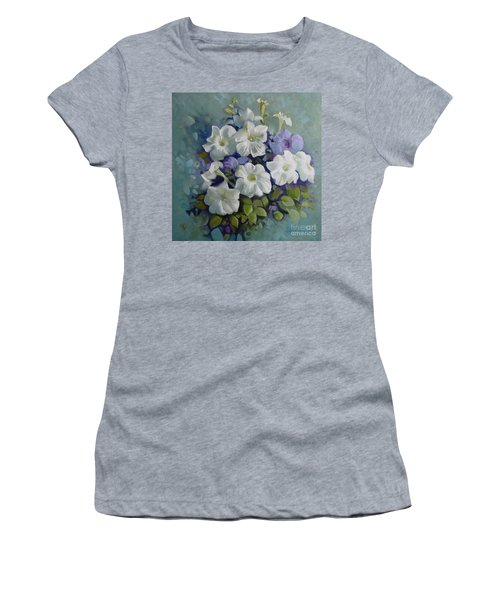 Petunias Symphony Women's T-Shirt (Athletic Fit)