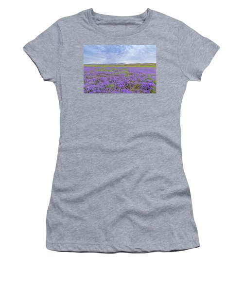 Women's T-Shirt (Junior Cut) featuring the photograph Phacelia Field by Marc Crumpler