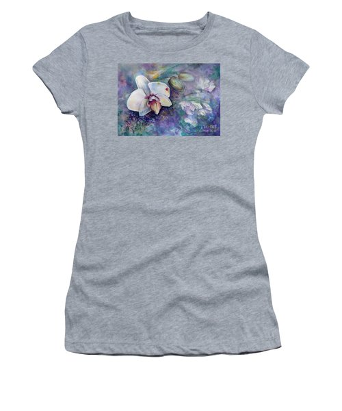 Phalaenopsis Orchid With Hyacinth Background Women's T-Shirt