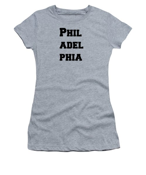 Philadelphia In Pink Women's T-Shirt (Athletic Fit)