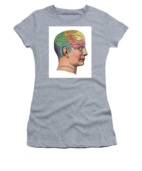 Phrenological Chart Women's T-Shirt