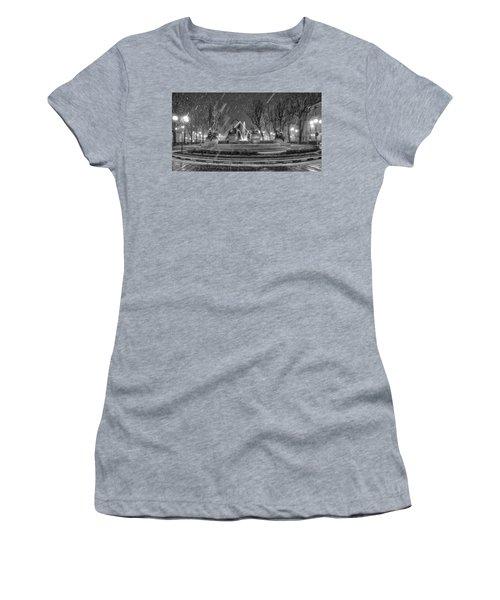 Piazza Solferino In Winter-1 Women's T-Shirt (Junior Cut) by Sonny Marcyan