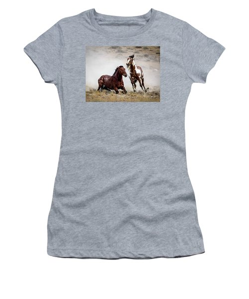 Picasso - Wild Stallion Battle Women's T-Shirt (Athletic Fit)