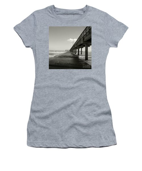 Pier 1 Women's T-Shirt (Junior Cut) by Sebastian Mathews Szewczyk