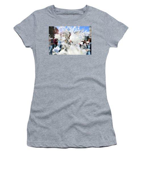 Pillow Fight Women's T-Shirt (Junior Cut) by Ana Mireles